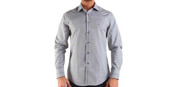 Pánská bílá károvaná košile Calvin Klein