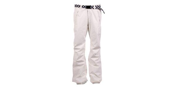 Démské bílé kalhoty na snb s kostkovaným páskem O'Neill