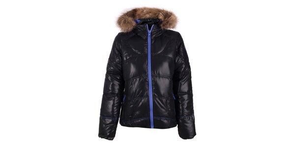 Dámská černá bunda s modrým zipem O'Neill