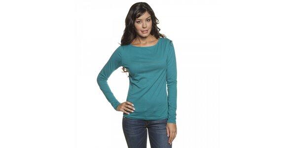 Dámské tyrkysově modré tričko Lois s dlouhým rukávem