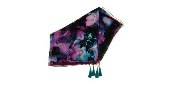Dámský duhově barevný hedvábný šátek Fraas