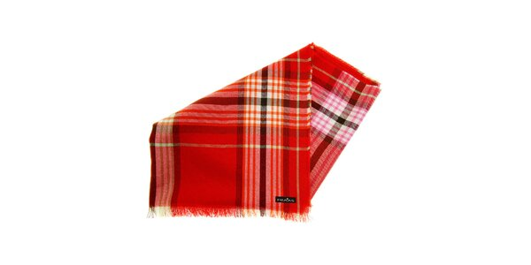 Dámská červená pašmína s kostkou Fraas 9f6eb0924d