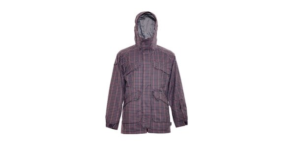 Pánská zimní bunda značky Nugget v šedé barvě se vzorem