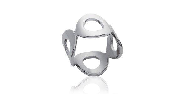 Dámský prstýnek z ocelových kroužků La Mimossa
