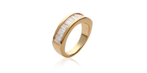 Dámský zlatý prsten s kamínky La Mimossa