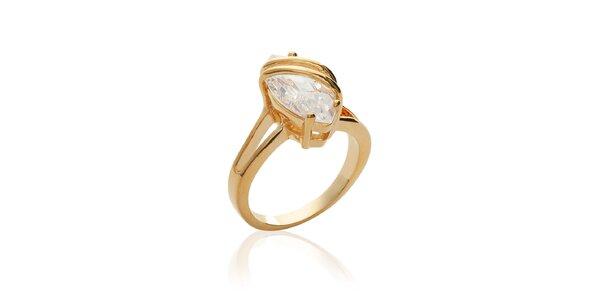 Dámský pozlacený prsten se zirkonem La Mimossa