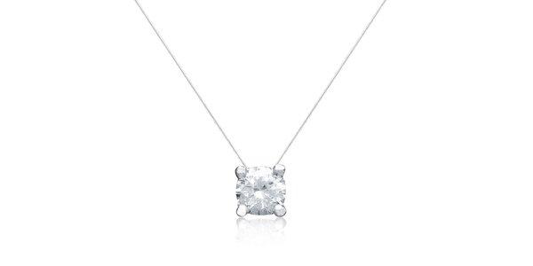 Dámský náhrdelník s bílým zirkonem La Mimossa