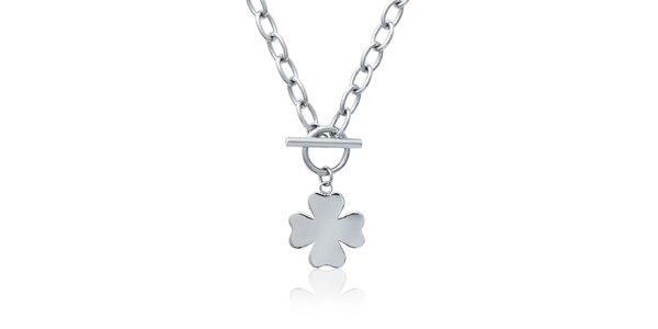Dámský ocelový náhrdelník se čtyřlístkem La Mimossa