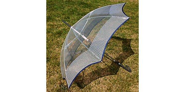 Dámský transparentní deštník s šedým lemem Alvarez Romanelli