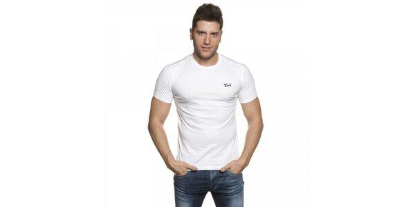 Pánské bílé tričko Lois s výšivkou