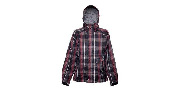 Dámská zimní bunda značky Nugget v černé barvě se vzorem