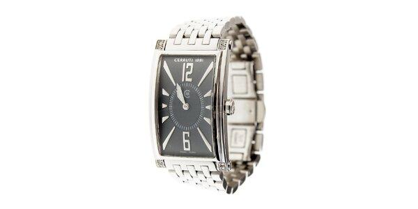 Dámské ocelové hodinky Cerruti 1881 s černým ciferníkem
