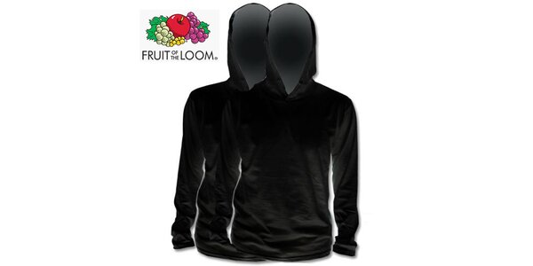 Dvě černé trička s kapucí
