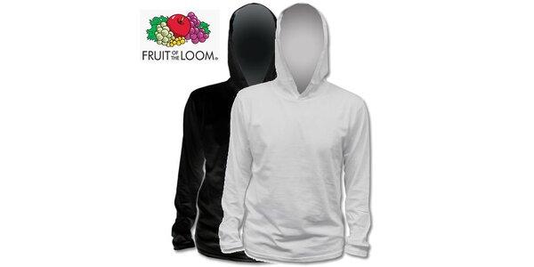 Černé a šedé tričko s kapucí