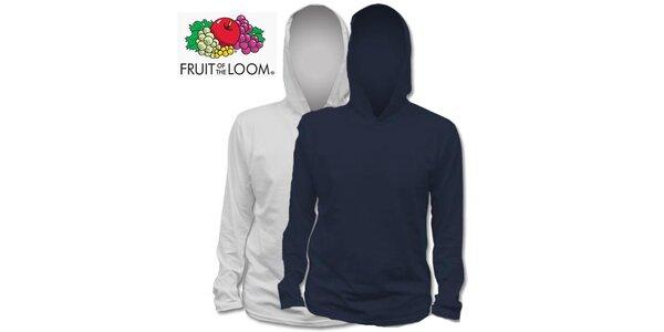 Šedé a modré tričko s kapucí