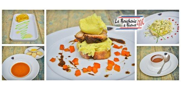Bohaté degustační menu pro dva v La Boucherie M