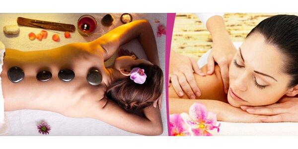 60minutová hawajská masáž , masáž lávovými kameny nebo sportovní masáž