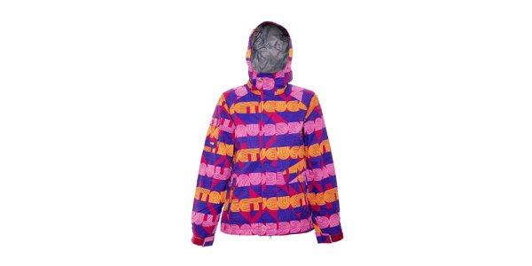 Dámská zimní bunda značky Nugget v pestrých barvách se vzorem