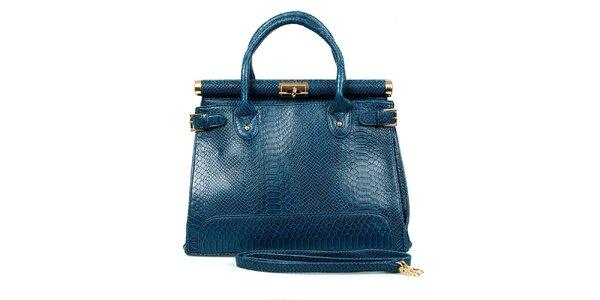 Dámská modrá kabelka se zámečkem London Fashion