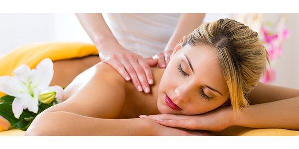 Částečná masáž (záda, nohy, šíje)