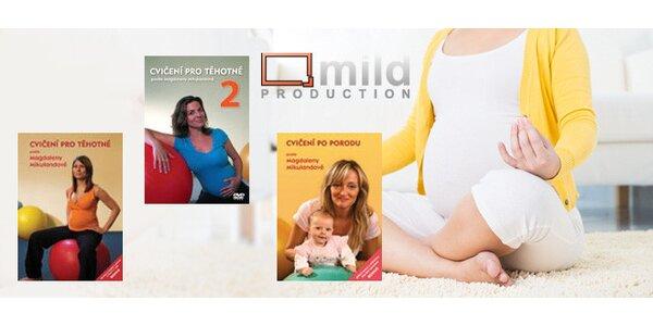 3 DVD s cvičením pro nastávající maminky
