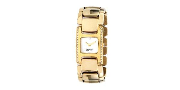 Dámské ocelové hodinky Esprit ve zlaté barvě