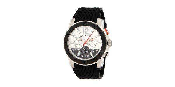 Pánské černo-bílé ocelové hodinky Esprit