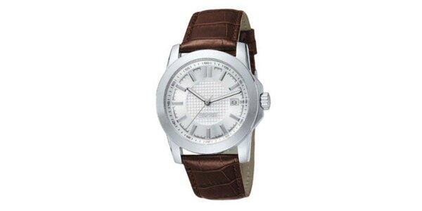 Dámské hodinky Esprit s hnědým řemínkem