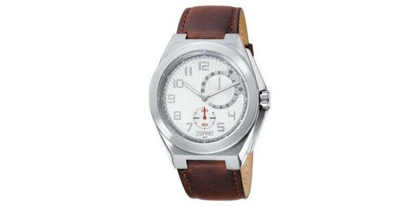 Pánské hodinky Esprit s hnědým řemínkem