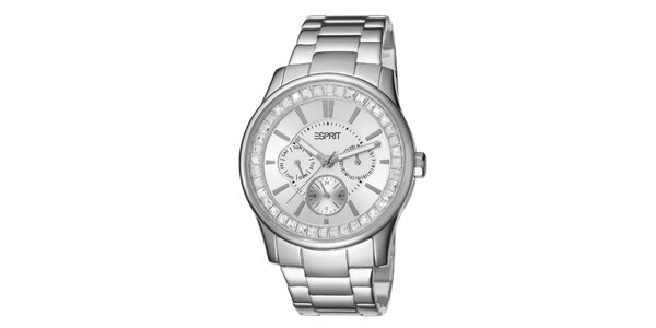 Dámské hodinky Esprit ve stříbrné barvě s bílým ciferníkem