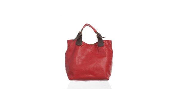 Dámská temně červená kabelka Moow