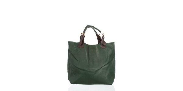 Dámská tmavě zelená kabelka Moow