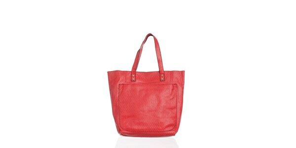 Dámská zářivě červená kabelka Moow