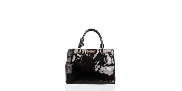 Dámská černá lakovaná kabelka Moow