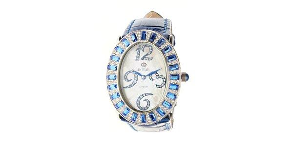 Dámské modré hodinky Royal London s modrým řemínkem