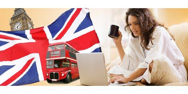 6měsíční online kurz angličtiny z pohodlí domova