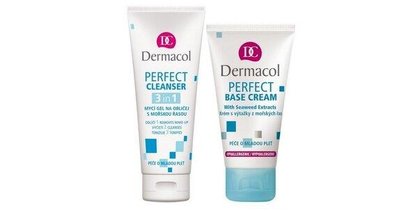 Dermacol Perfect Base 50ml+Perfect Cleanser 3v1 mycí gel na obličej 100ml