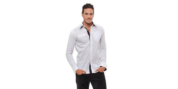 Pánská bílá košile Bendorff s černými detaily