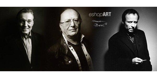 Umělecké portréty slavných od M. Becka (40×30 cm)