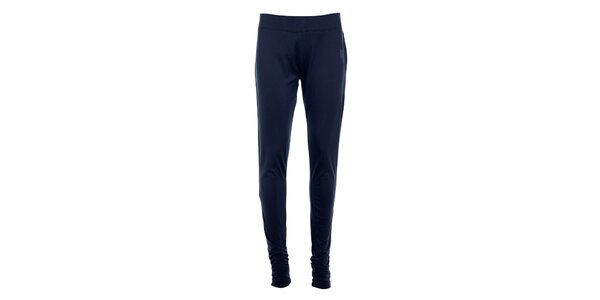 Dámské tmavě modré úzké kalhoty Tom Tailor