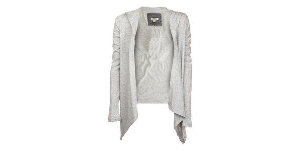Dámský světle šedý kabátek s kapucou Tom Tailor