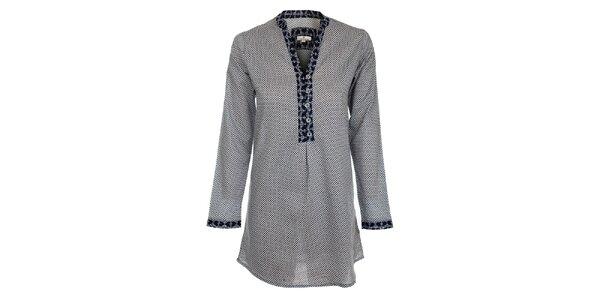 Dámská modro-šedá noční košilka s puntíky Tom Tailor