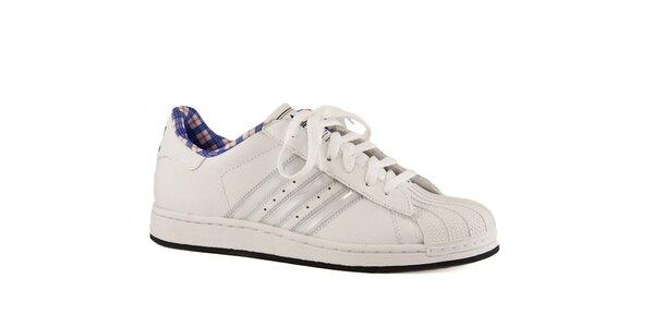 Dámské bílé kožené tenisky Adidas s gumovou špičkou