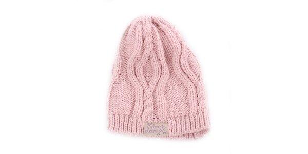 Dámská růžová pletená čepice Fundango