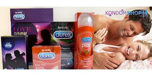 Vánoční balíčky kondomů Durex a Pasante