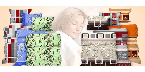 Výprodej barevných přikrývek a polštářů ze 100% bavlny