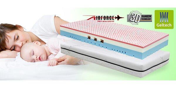 Výprodej Hi-tech matrací Tropico Geltech® Omega, 1+1 zdarma nebo samostatné kusy