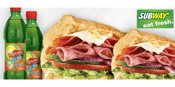 Dva italské sendviče a dva čaje v SUBWAY!
