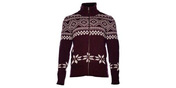 Pánský vínový svetr Pepe Jeans s norským vzorem