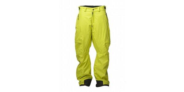 Pánské citronově žluté snowboardové kalhoty Fundango s membránou